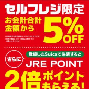東京駅のNewDaysでセルフレジ限定で5%オフだった