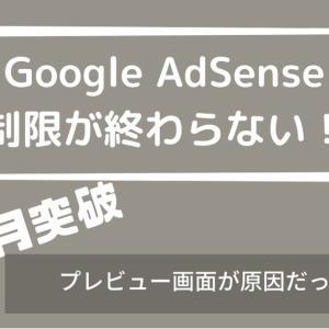 グーグルアドセンスの制限が3か月以上終わらない!?制限中にこれはダメ!!