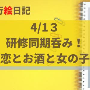 4/13 研修組で酒盛り