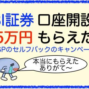 SBI証券の口座開設で1.5万円もらえた【キャンペーンのおかげ】