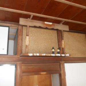 神棚のある6畳間(和室)をDIYで綺麗にする①(天井の処理と神棚の撤去)