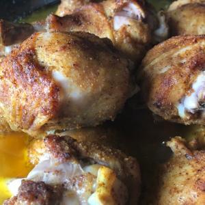鶏ドラムスティックのカレー風味