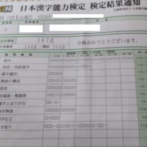 私立中学一年生 漢検三級合格!!