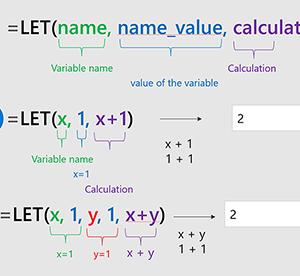"""Excelの新関数「LET」 ~""""変数""""を使って可読性と計算速度をアップ"""