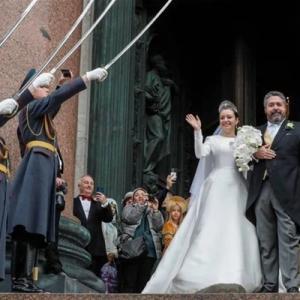 ・ ロシア皇帝後継者ゲオルグ・ロマノフと、イタリア女性の結婚式
