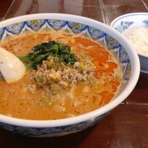 「中国ラーメン 栄」タンタン麺(刀削麺)