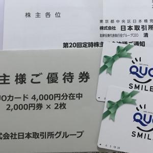 (JPX 株主優待) 継続保有年数 4000円クオカード達成