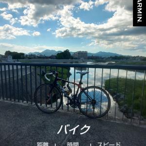 やべえ~バイク練習後に・・・