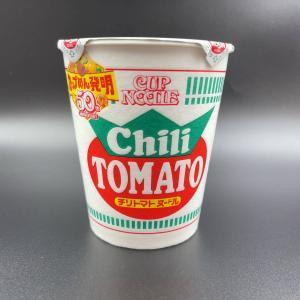 トマトの味わいにコンソメのような旨み…そこに白い謎肉が!イタリアンな日清カップヌードルの定番味