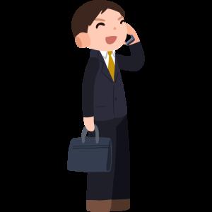 電話をする会社員 Company employee making a phone call