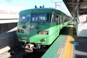 坂本から京都へ 緑色の電車たち