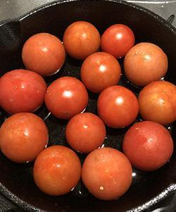 簡単レシピ ミニスキで作るプチトマトのグリル