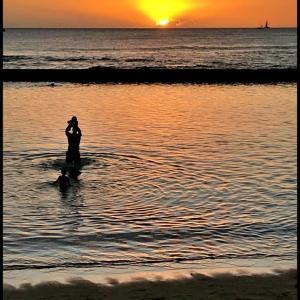 色んな風景~ワイキキビーチのサンセット~