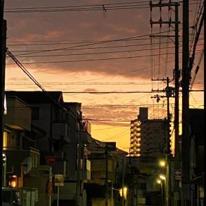 色んな風景~自宅前からの朝焼け~