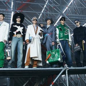 BTS×ルイ・ヴィトンのショーと『Permission to Dance』紫の風船。