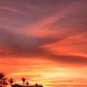 白い朝と、赤い夕焼け!~♡~06.17
