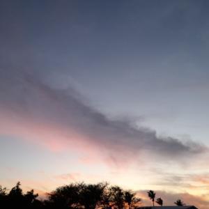 朝は雨空、【夕暮れ時は太陽と流れる雲の協奏曲】~7.19