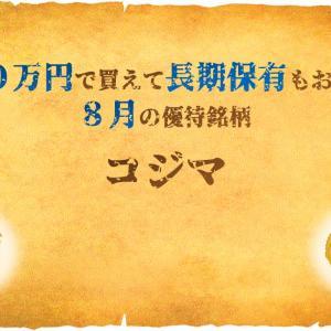 【ランクアップ優待】8月『コジマ』はビックカメラでも使える商品券