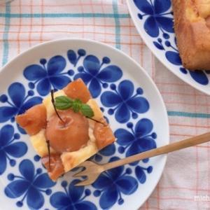 姫リンゴのカスタードケーキ