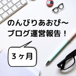 【3ヶ月】のんびりあおぴ〜ブログ運営報告!