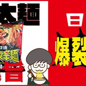 極太麺が鬼旨い!!日清 爆裂辛麺