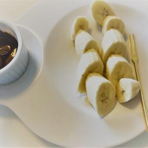節約おやつ バナナのチョコフォンデュ