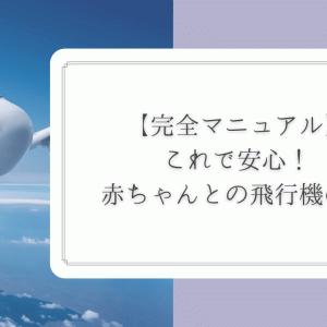 これで安心!赤ちゃんとの飛行機の旅、完全マニュアル大公開