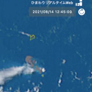 【福徳岡ノ場】軽石筏(パミスラフト)。