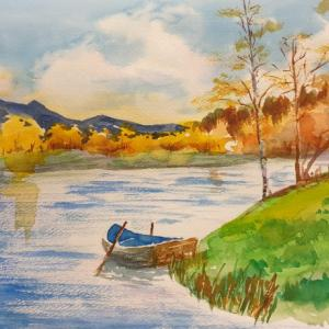 水彩画 ~その④:動かざること山の如し~