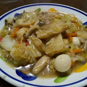 今日の晩飯 中華海鮮あんかけのおこげを作ってみた