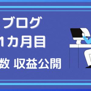 【1カ月目】ブログ成果公開 PV数、収益などのまとめ