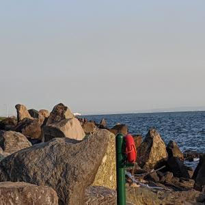 ★ 若洲海浜公園にて、シーバス狙ってキャスト(^^) 〜「ここは『釣り人』が良く来るからすごくきれいなんだ!」キャンペーン実施中♥