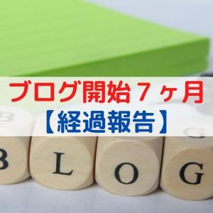 【ブログ経過報告】ブログ開設から7ヶ月目の記事数やPV数など公開