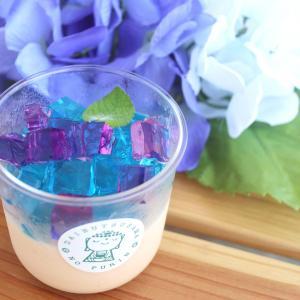 【鎌倉】期間限定!キラキラの紫陽花ゼリーを乗せたプリン!「大仏さまのプリン」