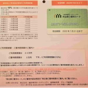 【株主優待】三越伊勢丹ホールディングス(3099)の株主優待カードが届きました!!