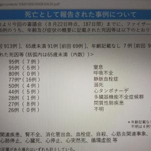 最新【死亡者 1,155名】厚労省コロナワクチン副作用報告 9月10日発表分