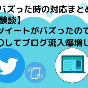 ツイートがバズってブログ流入爆増した体験談|バズった時の対応まとめ