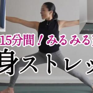 毎日15分間続ければみるみる体が変わる!これ一本で全身ストレッチ&体幹の筋力アップ!ダイエット、股関節の柔軟性、肩こり改善!
