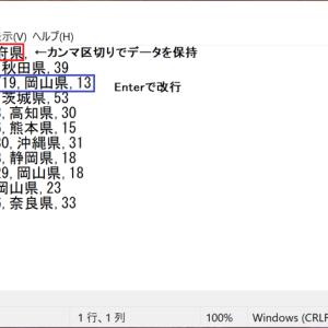 IMPORTDATA関数でスプレッドシートにウェブ上のcsv・tsvを挿入