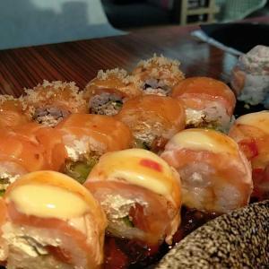 海外式寿司でお祝い