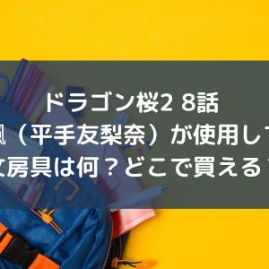 ドラゴン桜2 8話 岩崎楓が使っていた文房具は何?どこで買える?