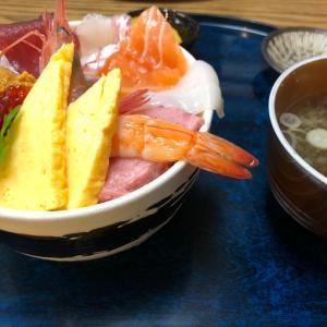 仙台青葉区・仙台朝市の東屋さんでおみくじ丼(海鮮丼)頂きました