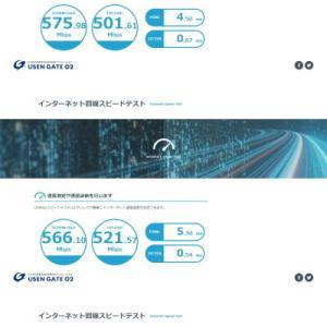 ネットワークボードの交換前に現状の速度テストをしておきます。