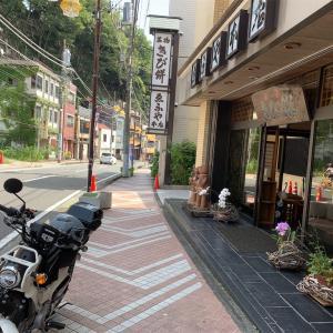 クロスカブで湯河原へ。温泉地で喫茶店と和菓子なバイク散歩。