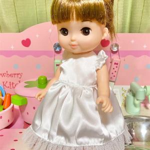 【材料費100円以下!】ソランちゃんドレス作りました。