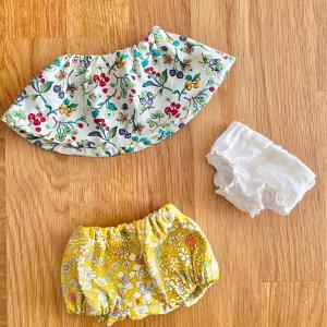 ソランちゃんのスカートやら作りました。