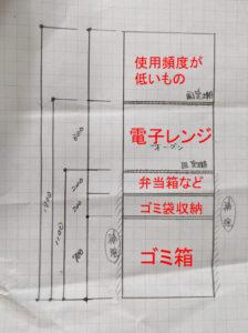 一条の自在棚を家電収納として使用する方法 注意点まとめ