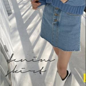 【TEEN韓国】ママも安心!デニムスカート【ミニなんだけど中はキュロット】と言うスグレもの!