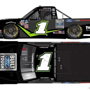 """1/64 """"ヘイリー・ディーガン"""" #1 ビルト・フォード・タフ フォードF-150 NASCAR キャンピングワールド・トラックシリーズ 2021"""