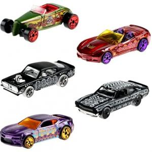 Hot Wheels Halloween Day of The Dead 2021 Vehicle Case Set of 5